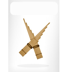 Three Musical Pan Flute vector image vector image