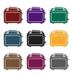 toaster icon in black style isolated on white vector image