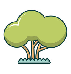 tree icon cartoon style vector image vector image