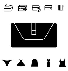 Wallet or pocketbook icon vector
