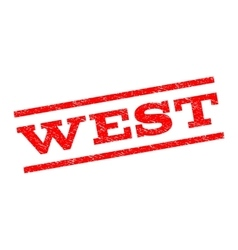 West watermark stamp vector