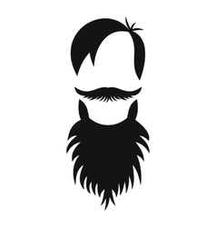 Male avatar with beard icon simple style vector