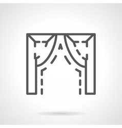 Ogee arch element simple line icon vector