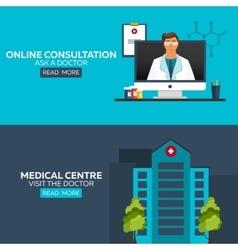 Online doctor online consultation ask doctor vector