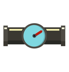 water meter icon flat style vector image