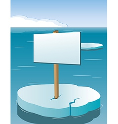 Arctic sign vector image
