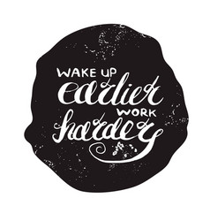 Job motivation lettering vector