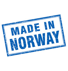 Norway blue square grunge made in stamp vector