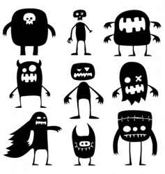 Halloween monsters vector image