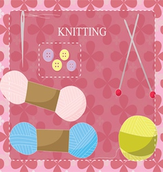 Knitting equipment icon vector