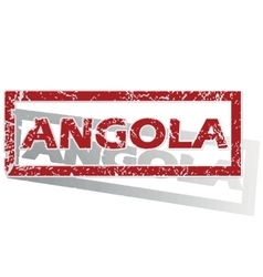 Angola outlined stamp vector