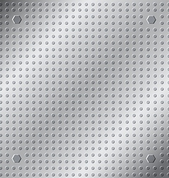 Emboss texture pattern on metal background vector