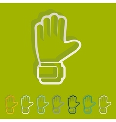 Flat design gloves vector