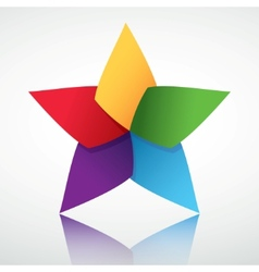 Colorful star symbol vector