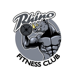 Rhino fitness club vector