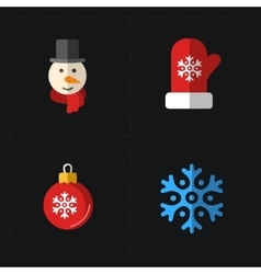 Christmas color icons collection vector