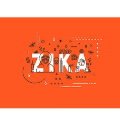 Design concept epidemic of zika virus vector