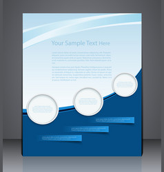 abstract layout flyer magazine cover vector image vector image