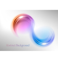 abstract shape smoke double white blue purple vector image vector image