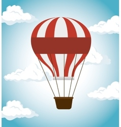 Air balloon festival funfair icon vector
