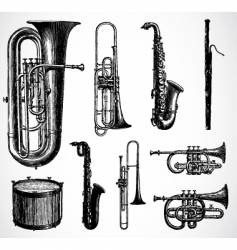 Antique instruments vector