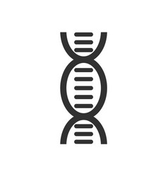 Black icon on white background human dna vector