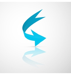Blue Abstract 3d Arrow Icon vector image vector image