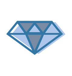 Blue luxury diamond cristal gem vector