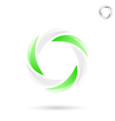Bright segmented circle shape vector image vector image
