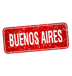 Buenos aires red stamp vector