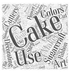 Cake decorating how to master sugarcraft word vector