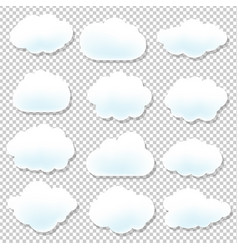 Cloud icons with blue background vector