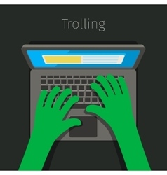 Concept of trolling in internet vector