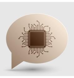 Cpu microprocessor brown gradient vector