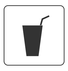 Drink glass icon vector image vector image