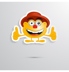 Funny Orange Man with Hat Made from Paper Icon vector image vector image