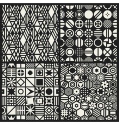 Geometric seamless patterns set vector image vector image