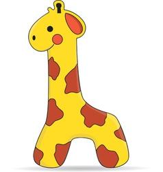 Giraffe Toy vector image