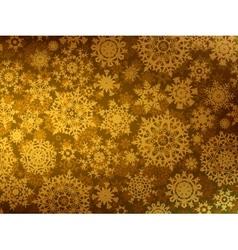 Golden snowflake background vector image