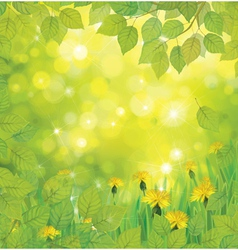 Green flowers background vector