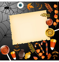 Halloween card with place for your text vector