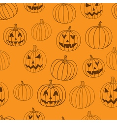 Halloween print seamless pattern with vector image