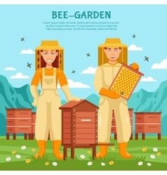Honey beekeeping poster vector
