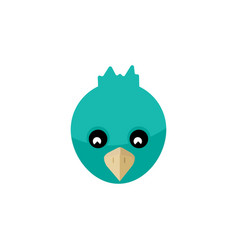 Isolated bird flat icon sparrow element vector