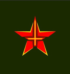 Military star symbol vector image vector image
