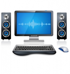 multimedia computer vector image