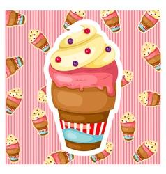 Pattern ice cream vector