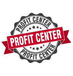 Profit center stamp sign seal vector