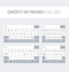 qwerty keyboard full set vector image vector image