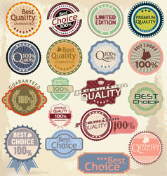 Retro label banner collection vector image